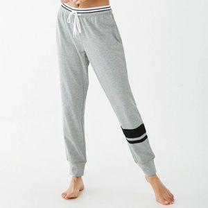 Forever 21 Pants - Striped-Trim Heathered Lounge Sweatpants